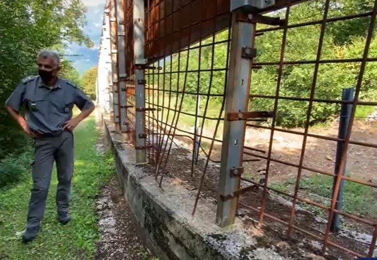 La gabbia dell'orso M49 è una struttura mal realizzata, lo dicono le foto pubblicate da ISPRA